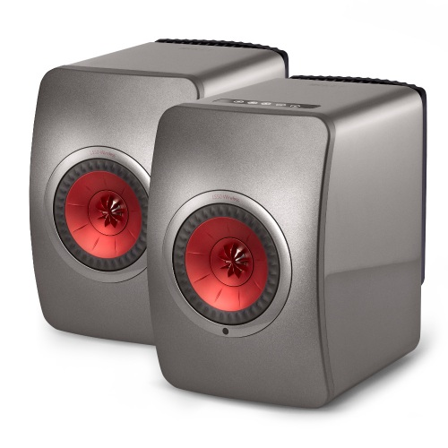 KEF LS50 Wireless Aktivlautsprecher Titanium Grey